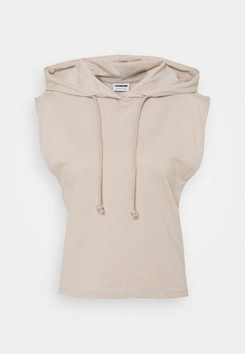 NMALLY HOODIE - Print T-shirt - chateau gray