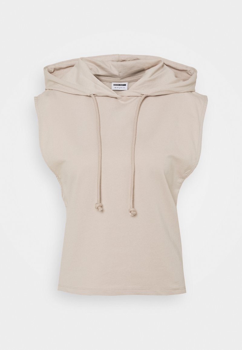 Noisy May Petite - NMALLY HOODIE - T-shirt con stampa - chateau gray