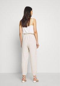 Cream - LORINE PANTS - Trousers - ote melange - 2