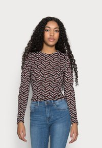 ONLY Petite - ONLPELLA PUFF  - Long sleeved top - black - 0