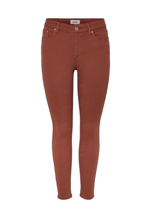 ONLY SKINNY FIT JEANS ONLBLUSH MID ANKLE - Jeans Skinny Fit - mahogany