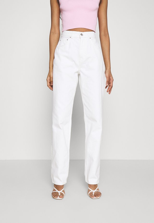 HIGH WAIST - Džíny Relaxed Fit - offwhite