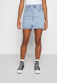 Levi's® - RIBCAGE SKIRT - Denim skirt - light blue denim - 0
