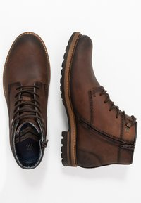 Bugatti - SILVESTRO - Lace-up ankle boots - brown - 1