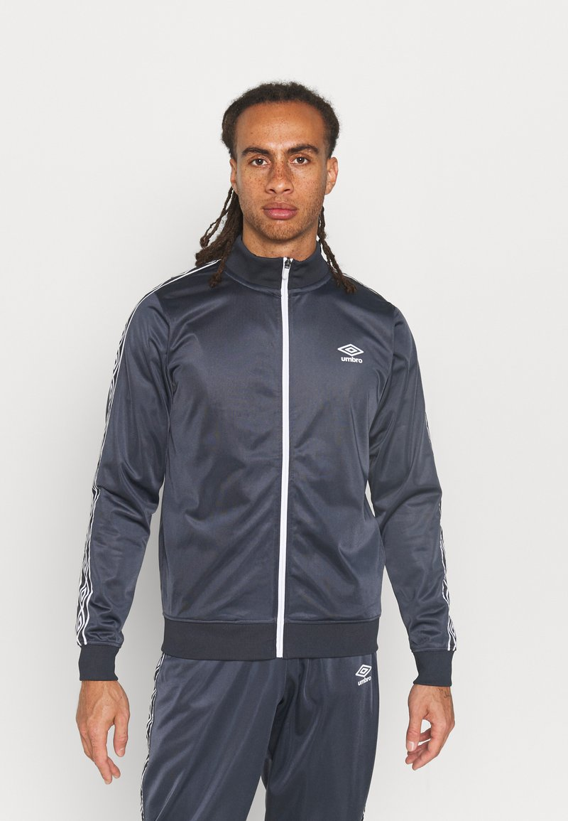 Umbro - ACTIVE STYLE TAPED TRACKSUIT - Tracksuit - indian ink/white