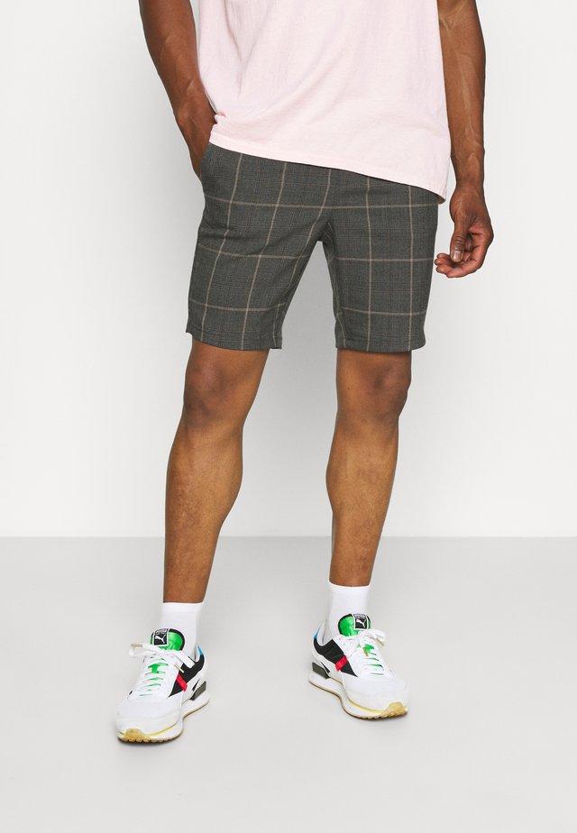 ONSLINUS CHECK - Shorts - brown/stone