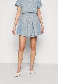 CECILIE copenhagen - SKIRT - A-line skirt - cloud - 0