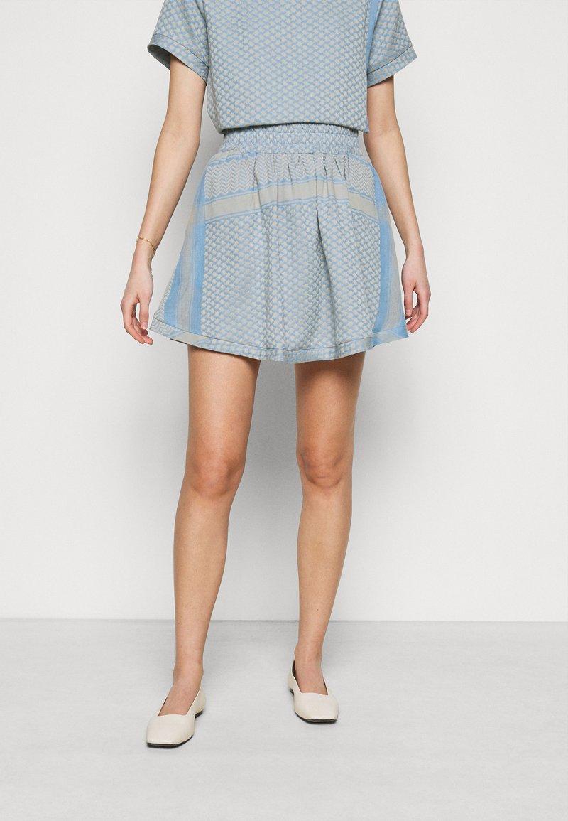 CECILIE copenhagen - SKIRT - A-line skirt - cloud