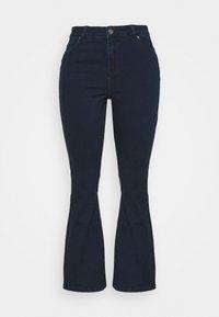 CAPSULE by Simply Be - KIM HIGH WAIST SUPER SOFT - Bootcut jeans - dark indigo - 3
