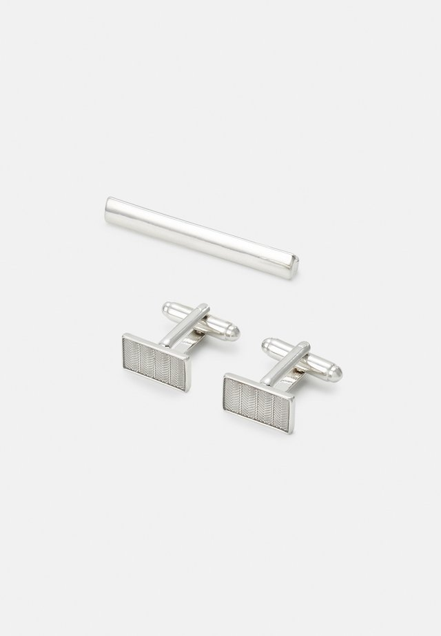 CUFF SET - Cufflinks - silver-coloured