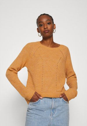 VISURIL O-NECK  - Jumper - pumpkin spice melange