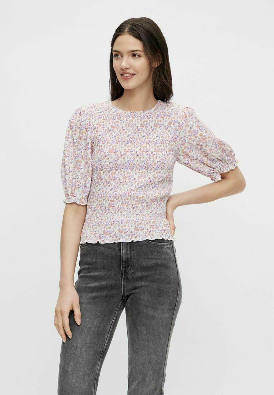 Femme T-shirt imprimé - bright white