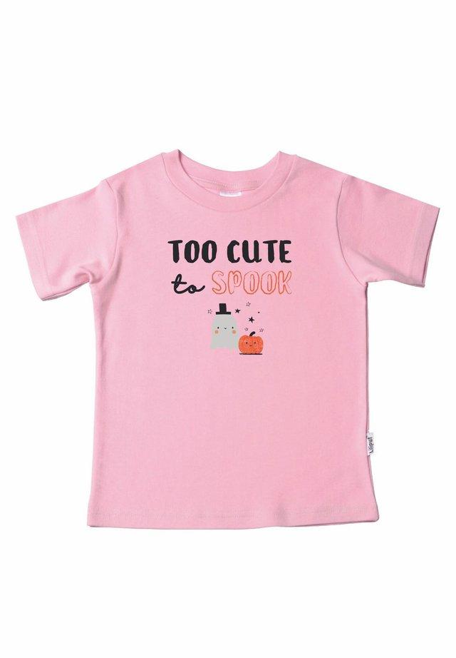 TOO CUTE TO SPOOK - Print T-shirt - rosa