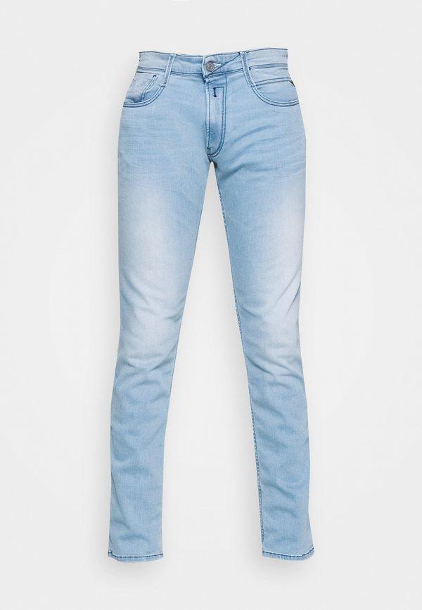 Replay ANBASS - Jeansy Slim Fit - light blue/jasnoniebieski Odzież Męska IMNR