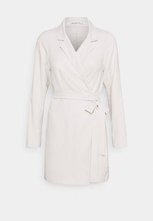 WRAP BLAZER DRESS - Day dress - beige