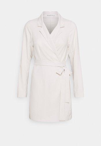 WRAP BLAZER DRESS - Day dress - beige