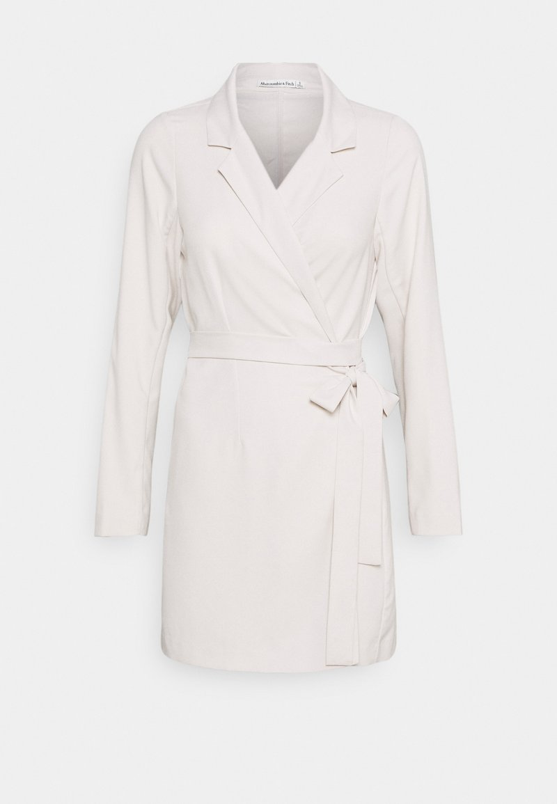 Abercrombie & Fitch - WRAP BLAZER DRESS - Hverdagskjoler - beige