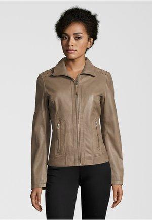 Leather jacket - taupe
