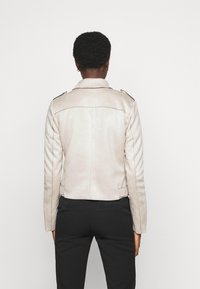ONLY Tall - ONLSHERRY BONDED BIKER - Faux leather jacket - pumice stone - 2