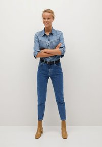 Mango - MOM80 - Jean slim - dark blue - 1