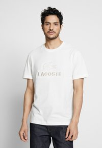 Lacoste - TH8602-00 - Print T-shirt - farine - 0