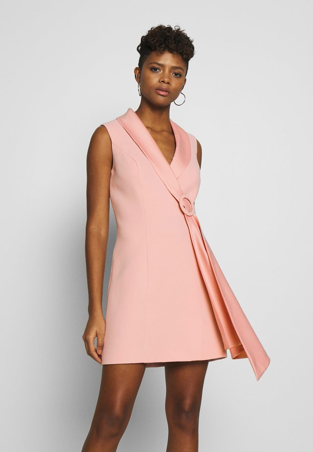 DRAPE TUXEDO DRESS - Shift dress - pale pink