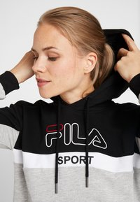 Fila - HOODY - Luvtröja - black/light grey melange/bright white - 5