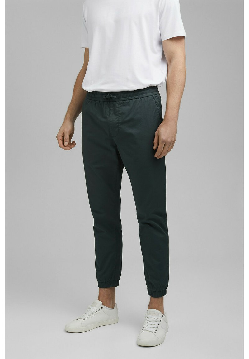 Esprit Collection - FASHION - Tracksuit bottoms - dark teal green