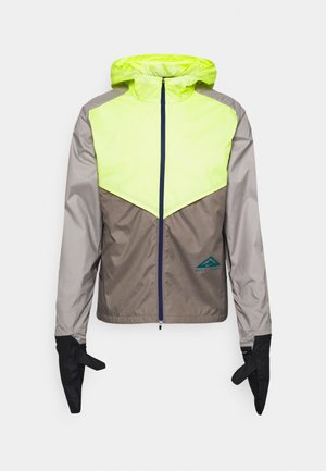 TRAIL WINDRUNNER  - Sports jacket - lemon twist/moon fossil/college grey/bright spruce