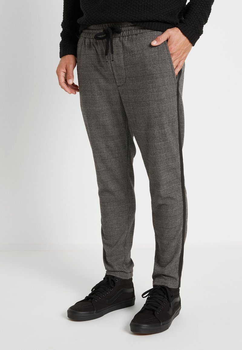 Only & Sons - ONSLINUS PANT CHECKS - Pantalon classique - medium grey melange