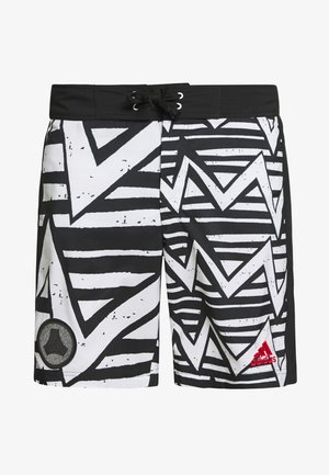 TAN SURF - Sports shorts - white/black