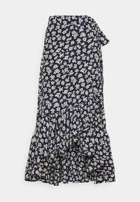 Polo Ralph Lauren - Zavinovací sukně - navy/cream - 4