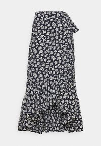 Wrap skirt - navy/cream