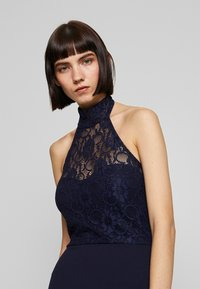 Missguided - DIP MIDI DRESS BRIDESMAID - Jerseykjole - navy - 3