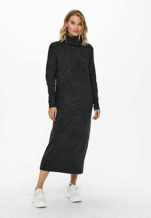 EXTRALANG - Pletené šaty - dark grey melange
