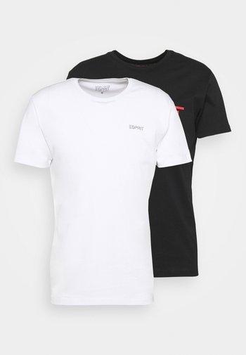 2 PACK - T-shirt imprimé - black