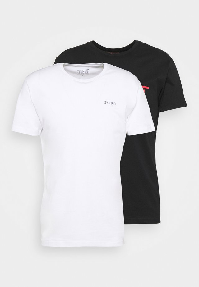2 PACK - T-shirt z nadrukiem - black