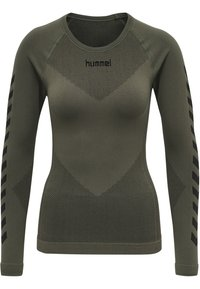 Hummel - FIRST SEAMLESS WOMAN - Long sleeved top - grape leaf - 7