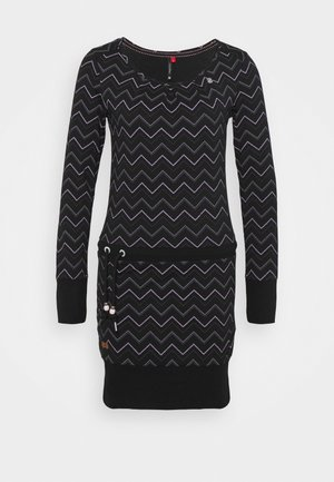 ALEXA ZIG ZAG - Day dress - black