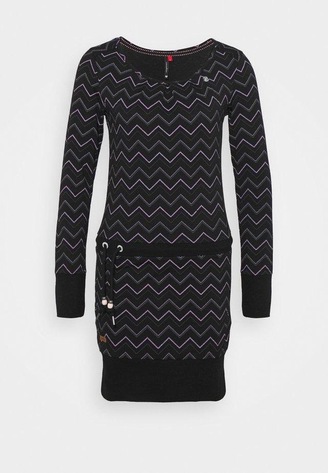 ALEXA ZIG ZAG - Day dress - black