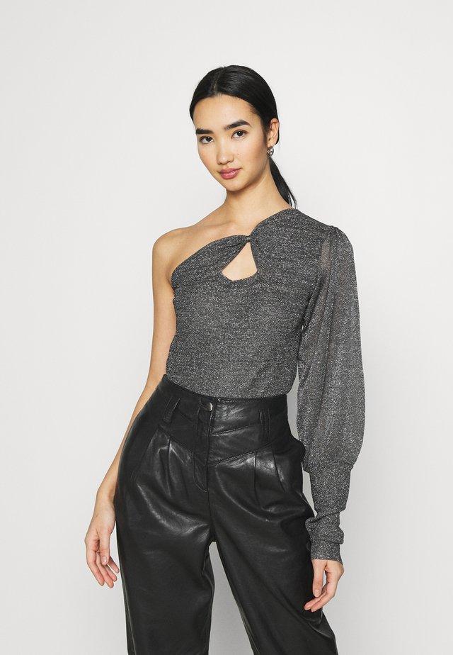 COTELLO ONE SHOULDER - Pullover - black