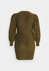 Simply Be - PLEAT SLEEVE BODYON DRESS - Cocktail dress / Party dress - gold-coloured - 1