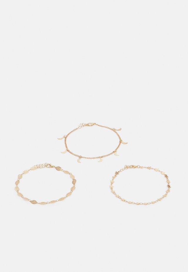 FGLEAFA ANKLET 3 PACK - Bracelet - gold-coloured