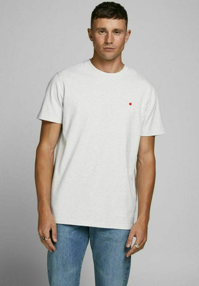 JJ-RDD CREW NECK - T-shirt basic - white melange