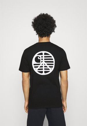 PEACE STATE  - T-shirt med print - black / white