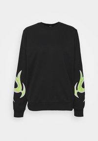 Diesel - F-ANG-E1-SHIRT - Sweatshirt - black/lemon - 3
