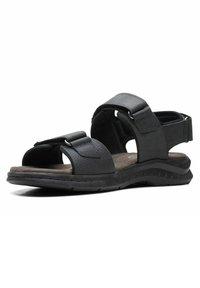 Clarks - CREEK - Walking sandals - black leather - 1