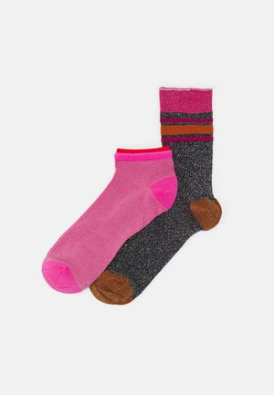 MIX SOCK 2 PACK - Sokker - bubblegum/black