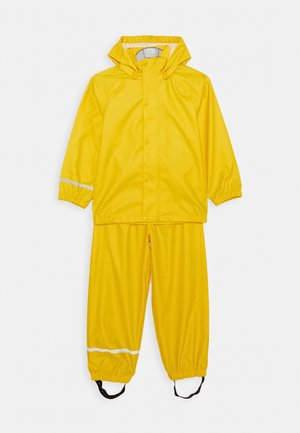 NKNDRY RAIN SET - Pantaloni impermeabili - empire yellow