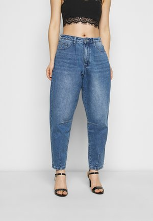 HIGH RISE CARROT LEG - Jean droit - blue